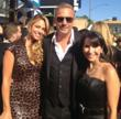 Kevin &amp; Christine Costner with Robin Levinson